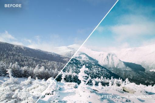 5 White Mountain - Kal Visuals Landscape Lightroom Presets I - Kyle Andrew Loftus - FilterGrade Digital Marketplace