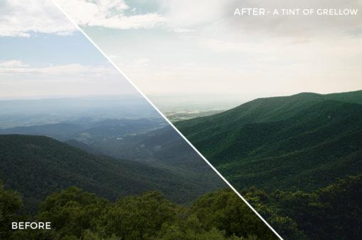 1 A Tint of Grellow - Kal Visuals Landscape Lightroom Presets I - Kyle Andrew Loftus - FilterGrade Digital Marketplace