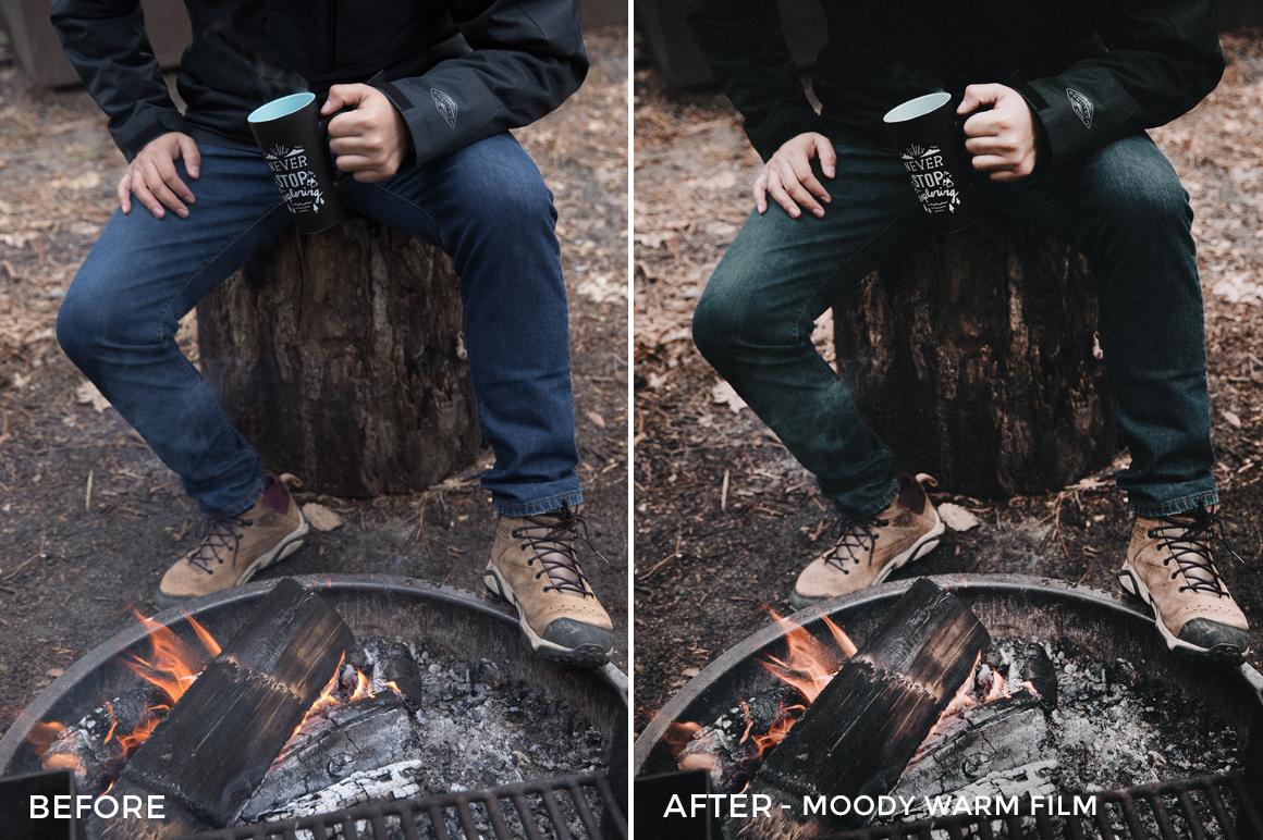 4 Moody Warm Film - Becca Ruski Lightroom Presets - Becca Ruski - FilterGrade Digital Marketplace