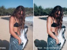 3 Blue Contrast - Beachy Vibes Lightroom Presets - Kilikai Ahuna - FilterGrade Digital Marketplace