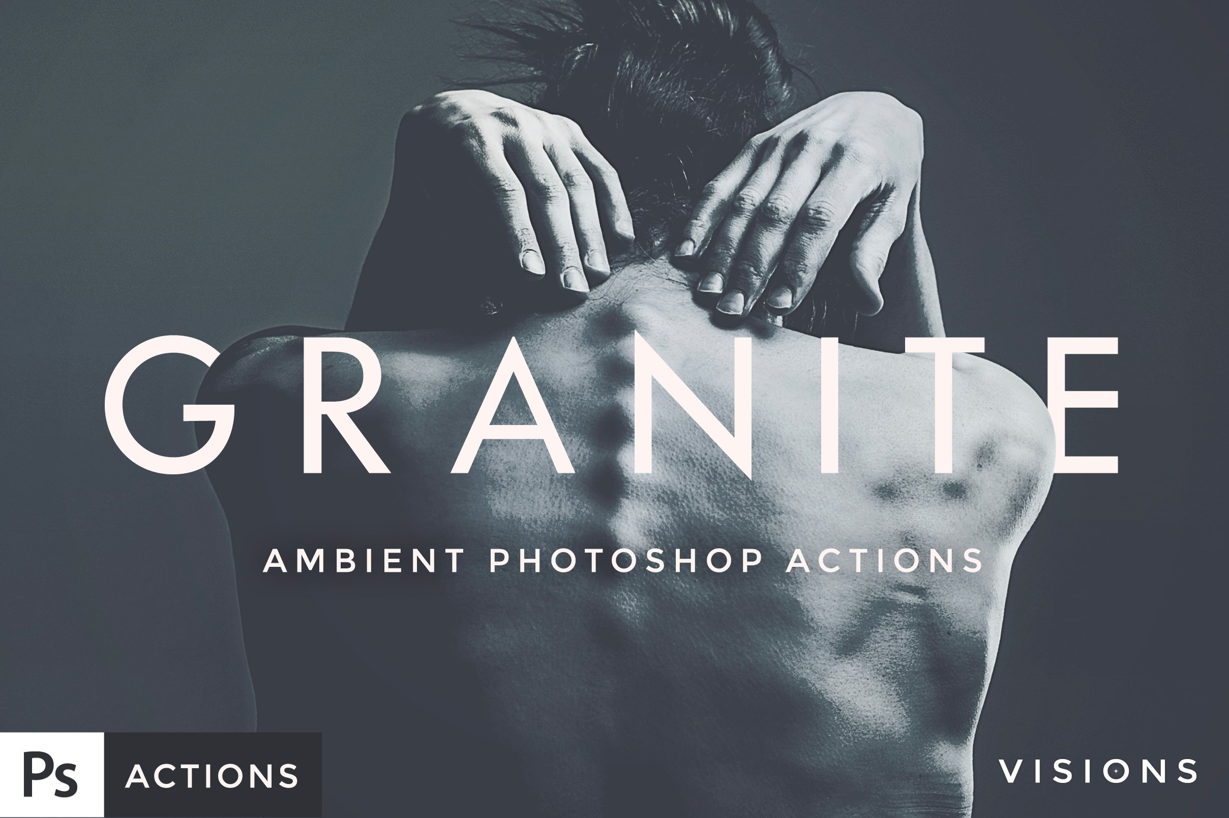 Forefathers GRANITE Photoshop Actions Set for photography and design.