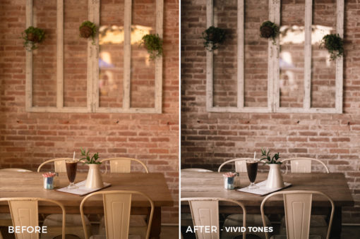 9 Vivid Tones Sean Dalton Cafe & Food Film Lightroom Presets - FilterGrade Marketplace