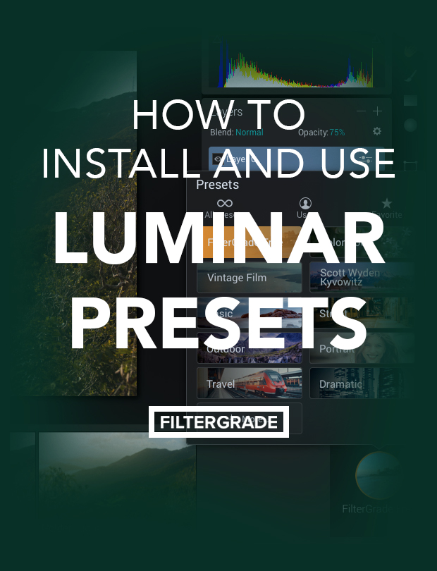 Simple steps to help you install and use Luminar Presets in your photo editing workflow.