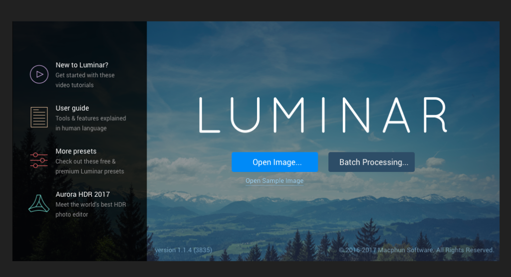 Open Luminar Photo Editor