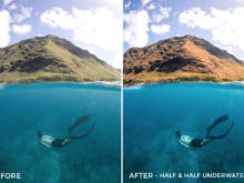 2 Half and Half Underwater - Julien Azelart Lightroom Presets - julienazelart - FilterGrade Digital Marketplace