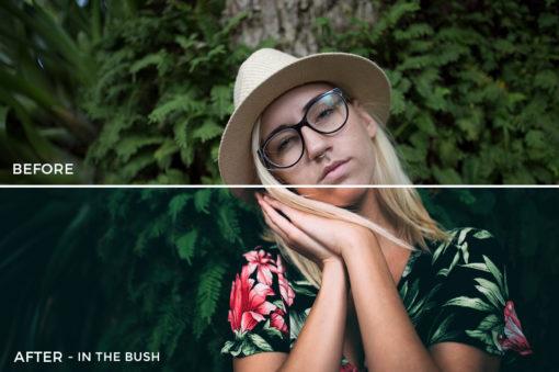 5 IN THE BUSH - Kal Visuals Moody Portrait Lightroom Presets - Kyle Andrew Loftus - FilterGrade Digital Marketplace
