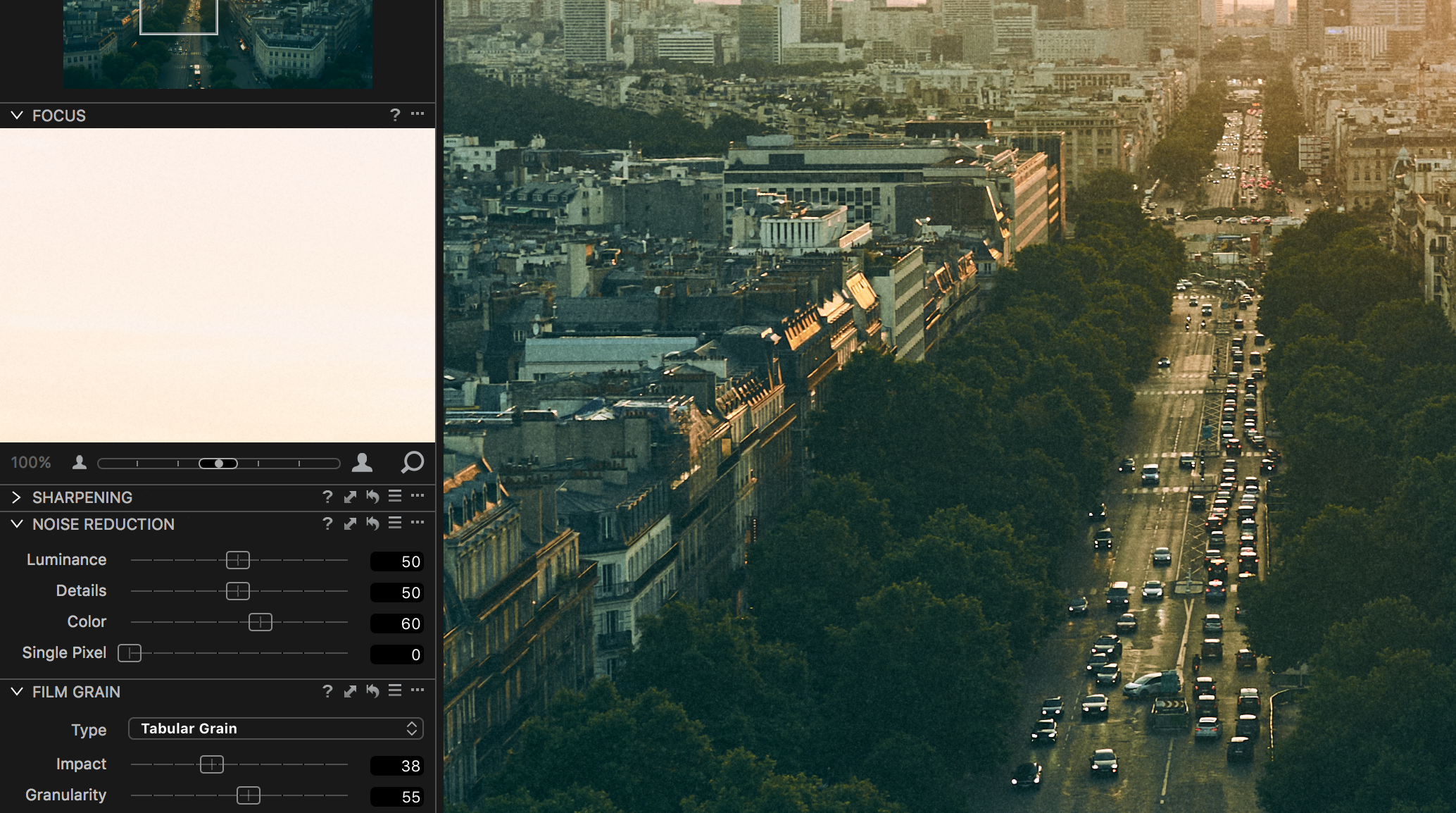 film grain tutorial capture one photo edit