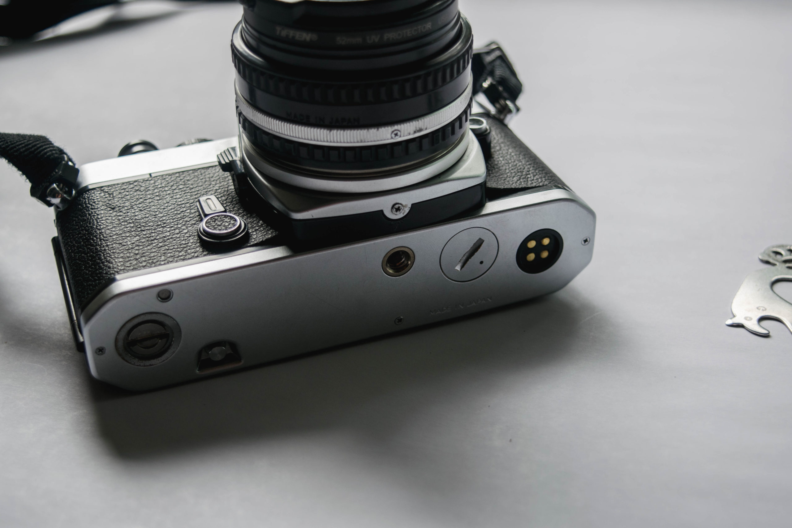 Camera Bottom- How to Fix a Nikon FE Film Camera with a Jammed Shutter - FilterGrade Blog