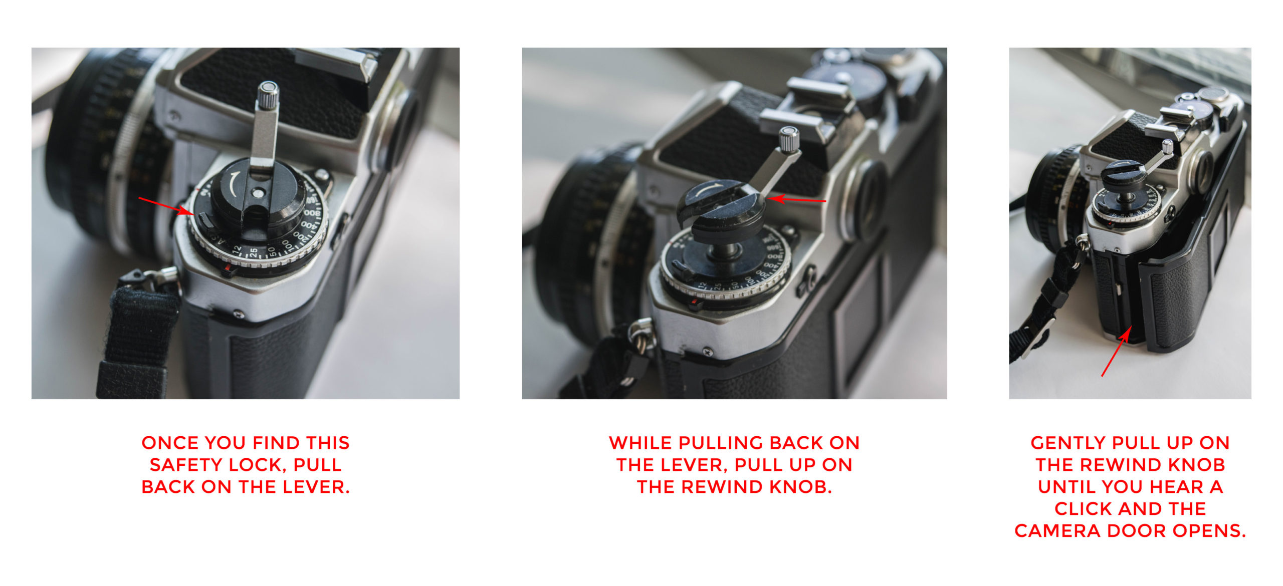 Open Back Diagram - How to Load Film into a 35mm Film Camera - FilterGrade Blog