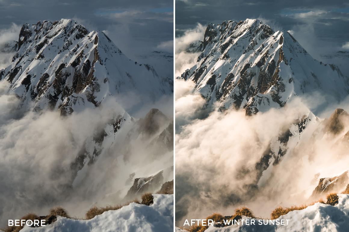 Winter Sunset - Fabio Zingg Lightroom Presets - Fabio Zingg Photography - @thealpinists - FilterGrade Digital Marketplace