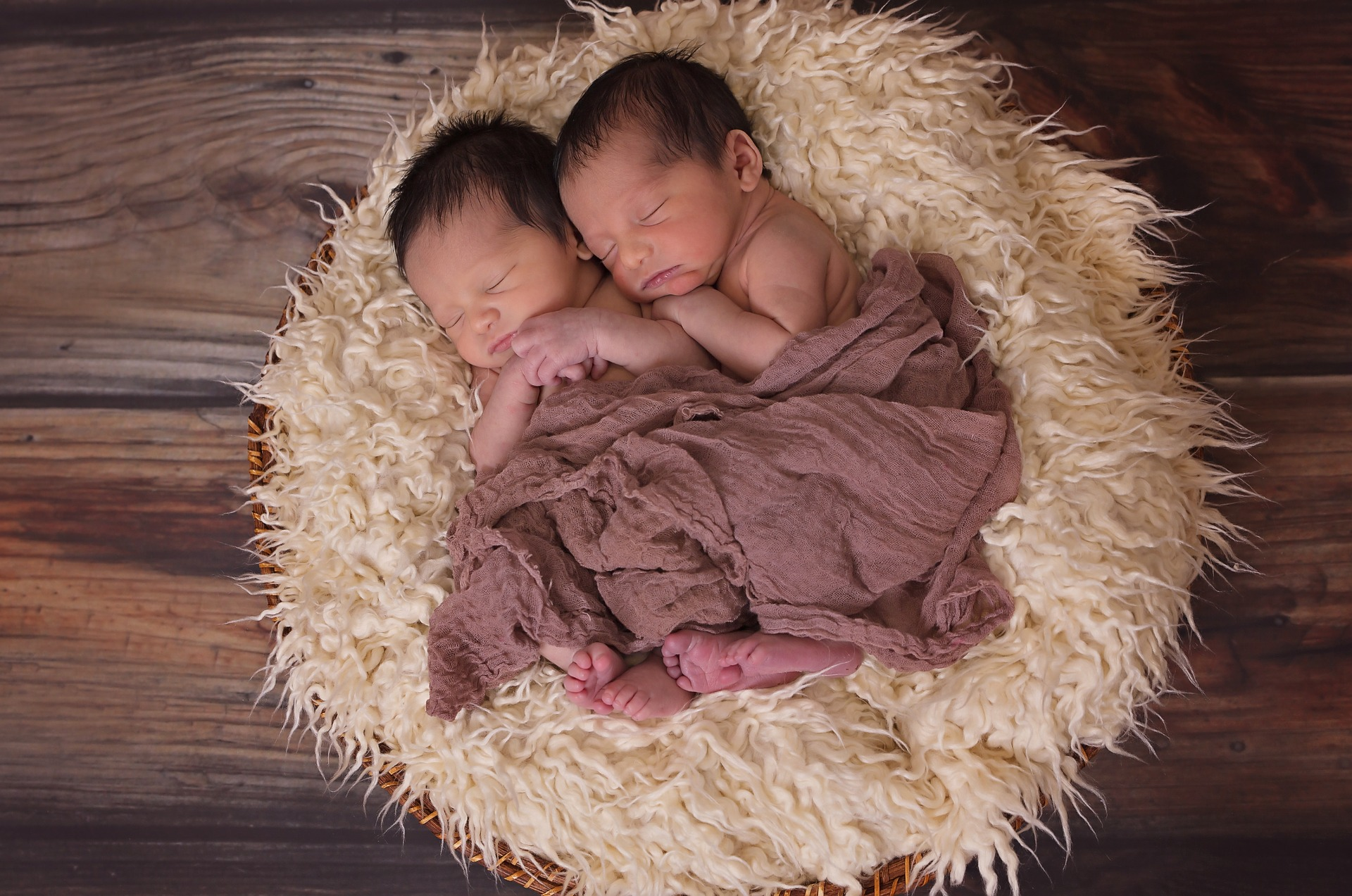 twins newborn baby photography