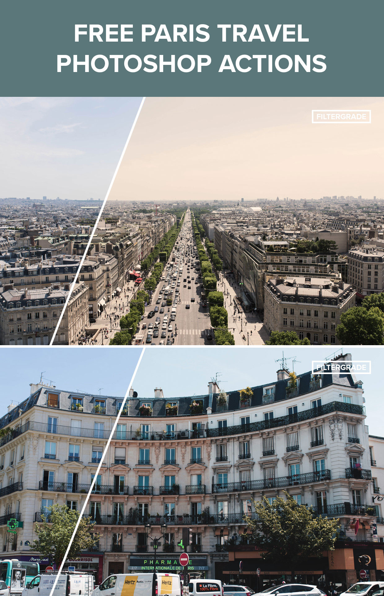 Free Travel Photoshop Actions on FilterGrade