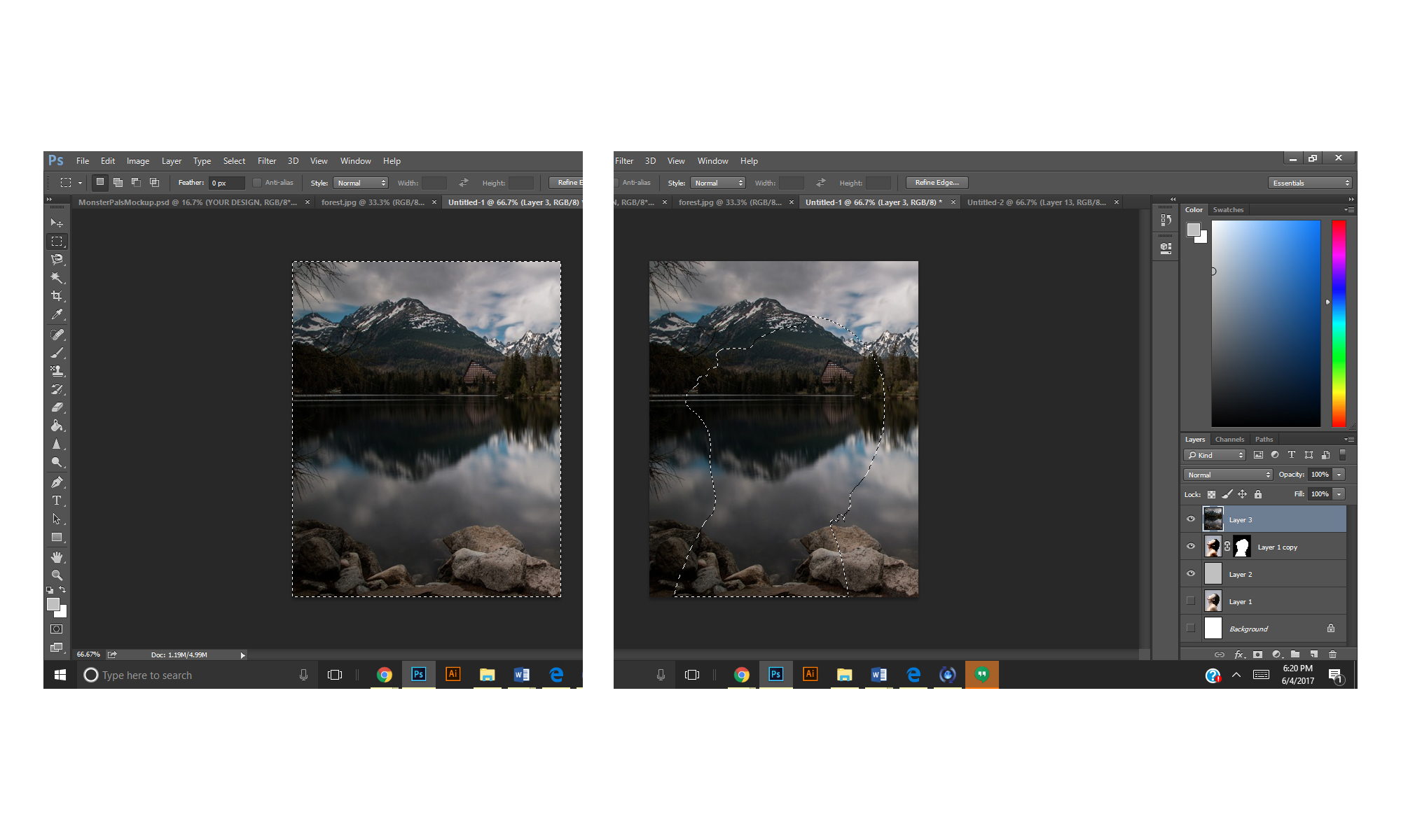 STEPS 3 - Creating Double Exposures in Adobe Photoshop - FilterGrade Blog