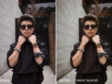 10 Classic Blacks - Gilbert Sosa Lightroom Presets - FilterGrade