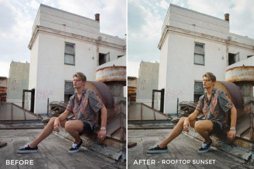 4 Rooftop Sunset - Gilbert Sosa Lightroom Presets - FilterGrade