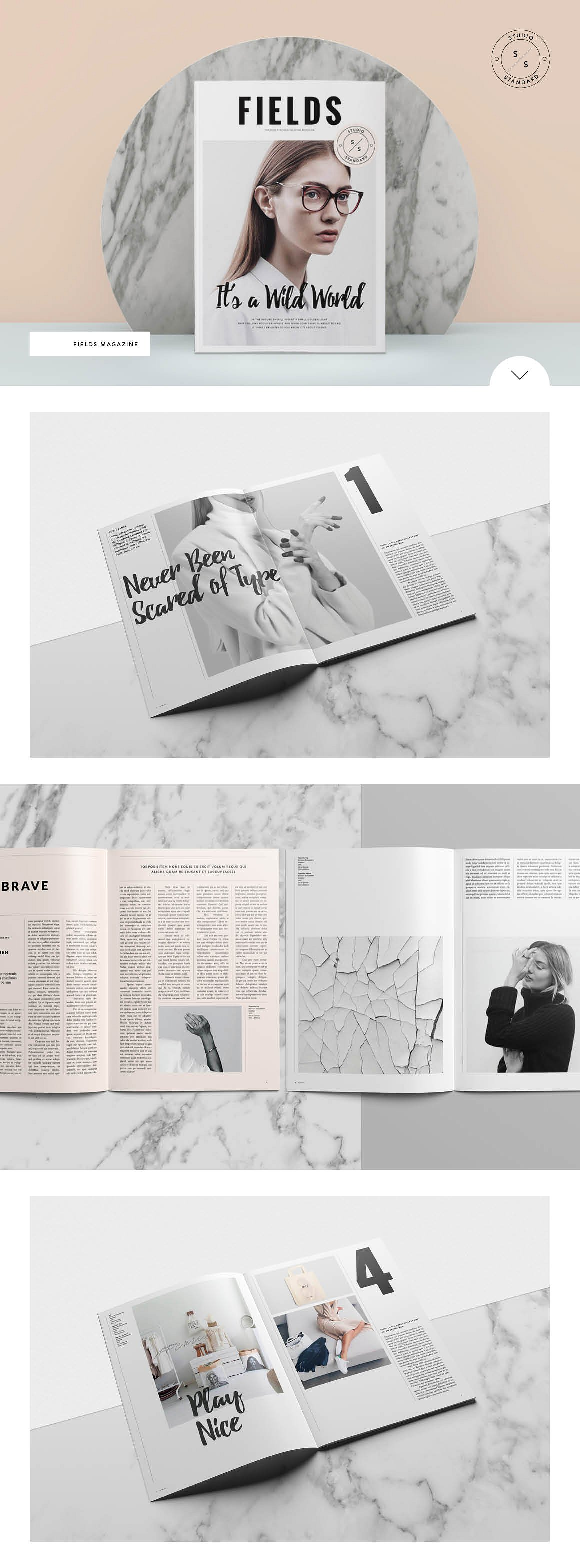 Fields Magazine Template by Studio Standard