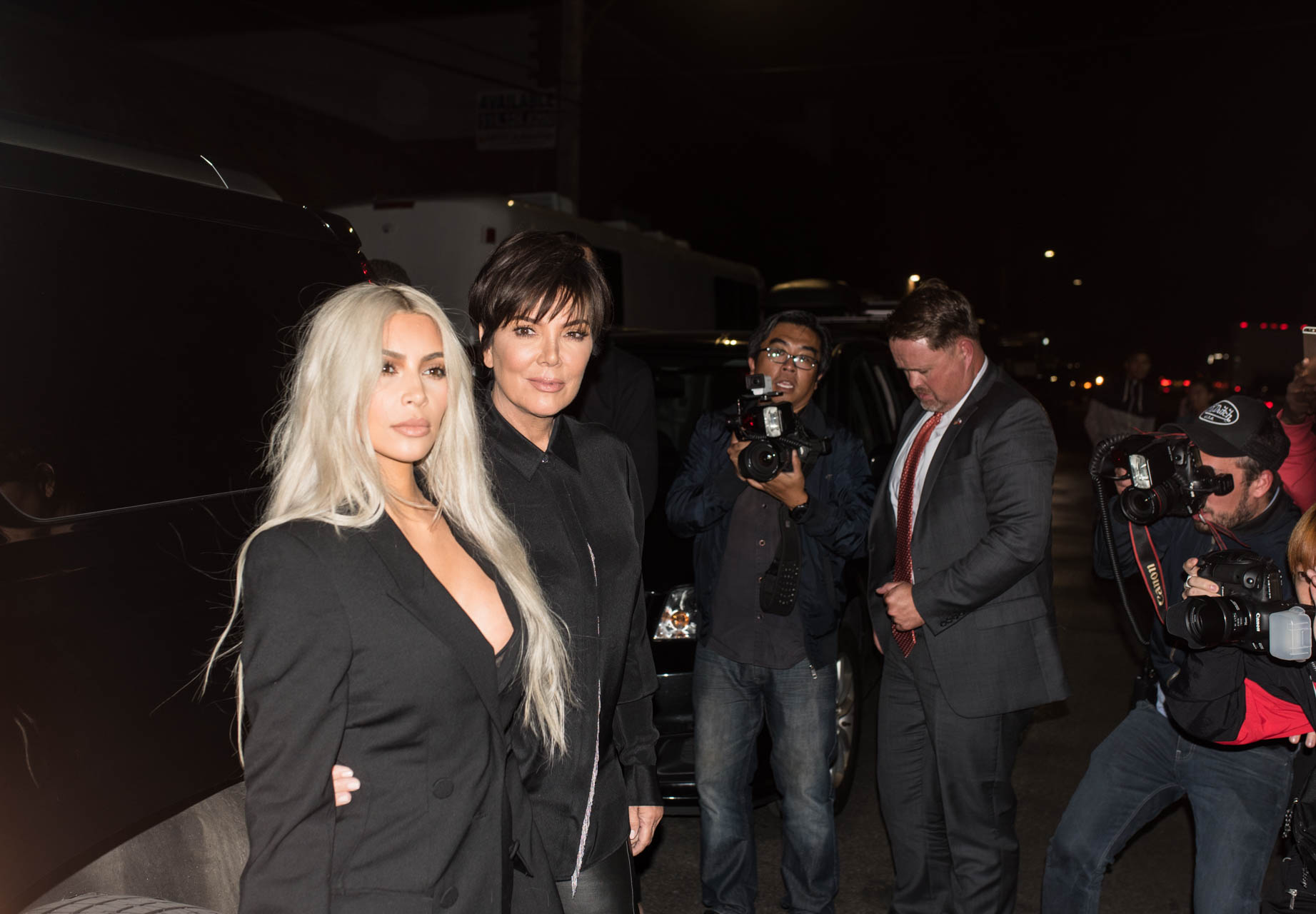 Kim Kardashian West and Kris Jenner at Alexander Wang's NYFW runway show