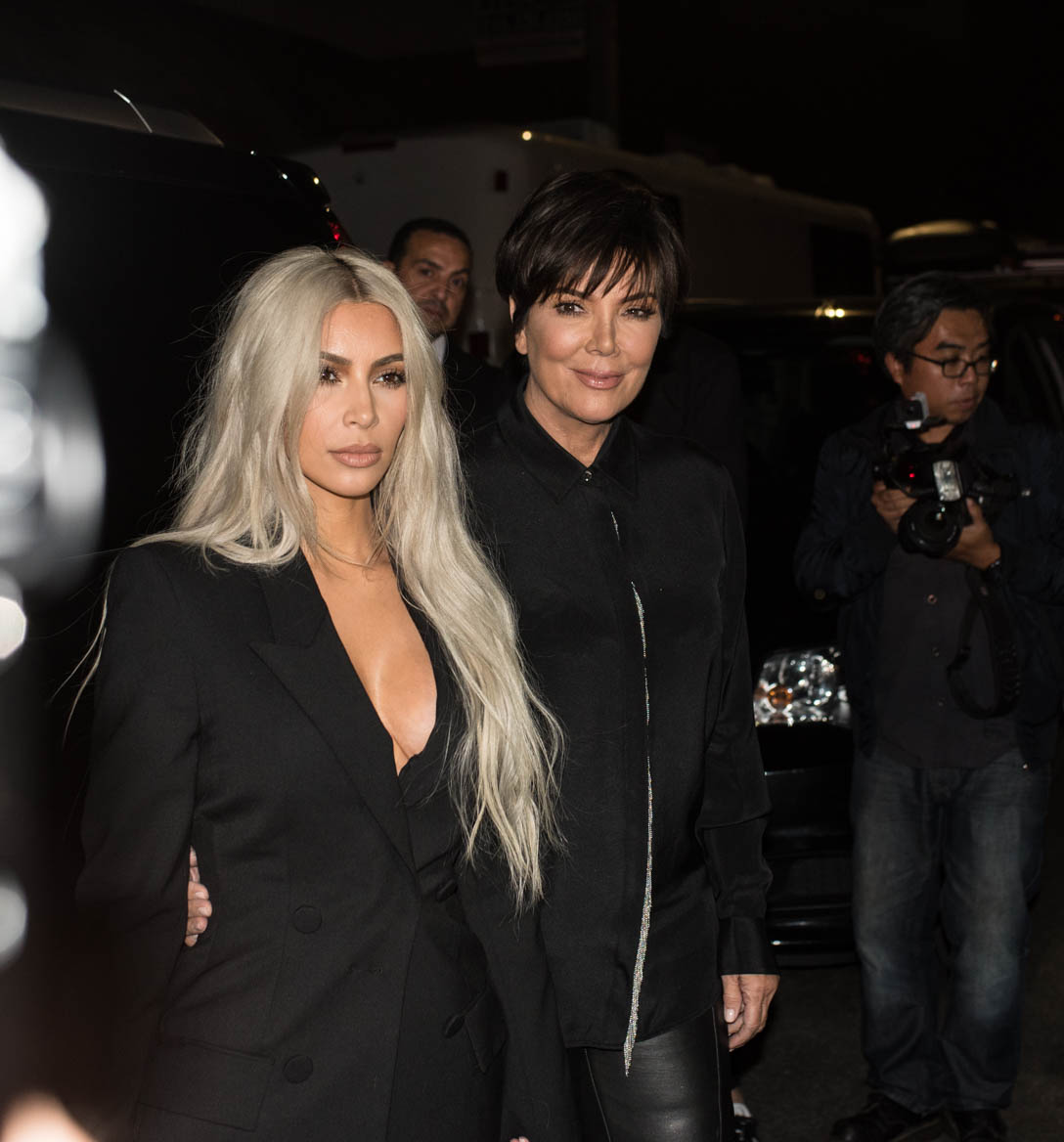 Kim Kardashian West and mother Kris Jenner arriving at Alexander Wang's WANGFEST 2017