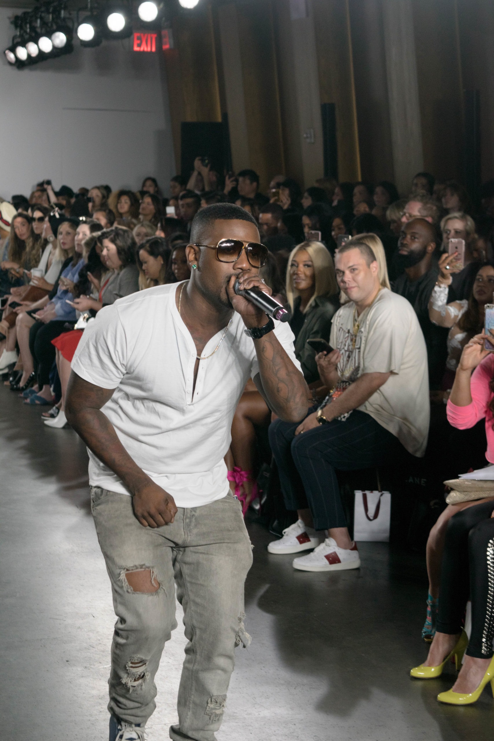 Ray-J performing live at New York Fashion Week September 2017