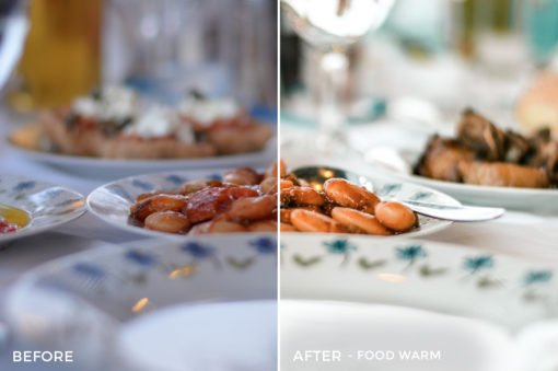 4 Food Warm - Travel Fever Lightroom Presets - @bombshellsisters - Felicia Ferm - Olivia Ferm - FilterGrade Digital Marketplace