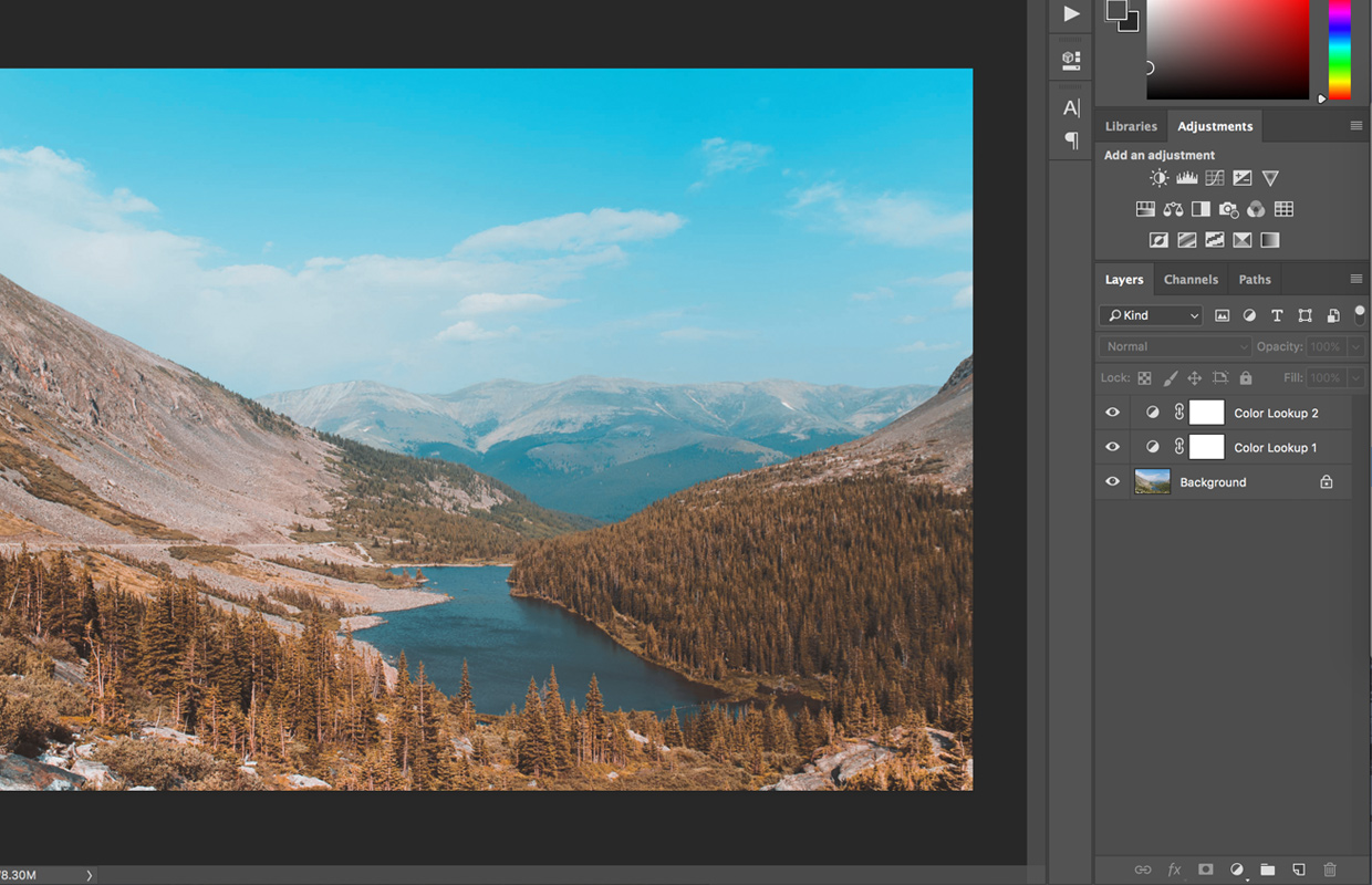 Using multiple LUTs at once in Photoshop CC
