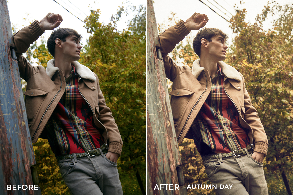 Autumn Day - Editorial Series- Natural Light Capture One Styles - FilterGrade