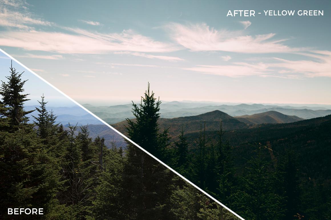 Yellow Green - Kal Visuals Landscape Lightroom Presets II - FilterGrade