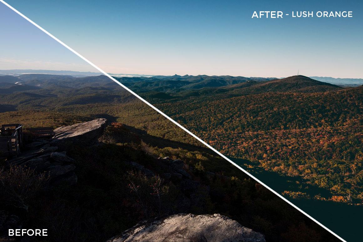 Lush orange - Kal Visuals Landscape Lightroom Presets II - FilterGrade