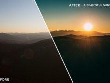 A Beautiful Sunset - Kal Visuals Landscape Lightroom Presets II - FilterGrade