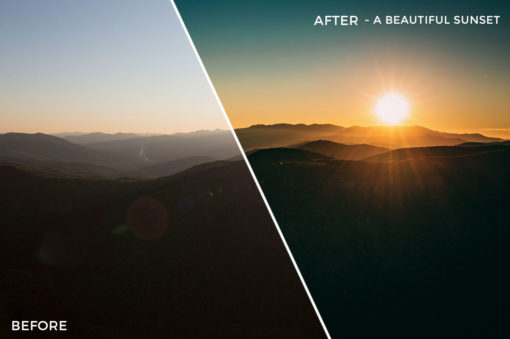 A Beautiful Sunset - Kal Visuals Landscape Lightroom Presets II - FilterGrade