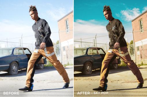 Sky Pop - Mark Binks Outdoor Fashion Lightroom Presets - FilterGrade