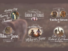 animated wedding titles and motion graphics for after effects