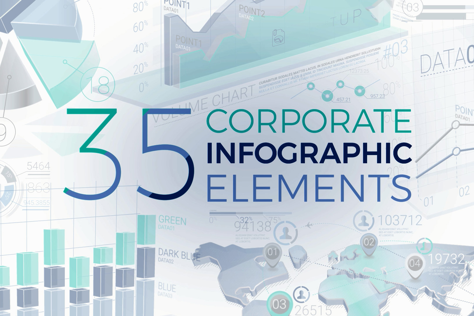 Corporate Infographic Elements After Effects Template