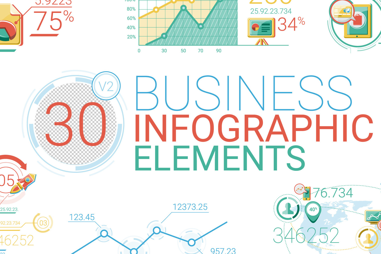Business Infographic Elements for After Effects - Concept Cafe