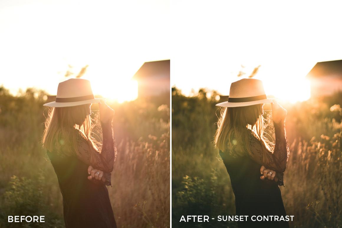 Sunset Contrast- Iustina Dumitrescu Lightroom Presets - FilterGrade
