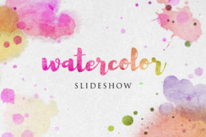 Watercolor slideshow template for after effects video promotions