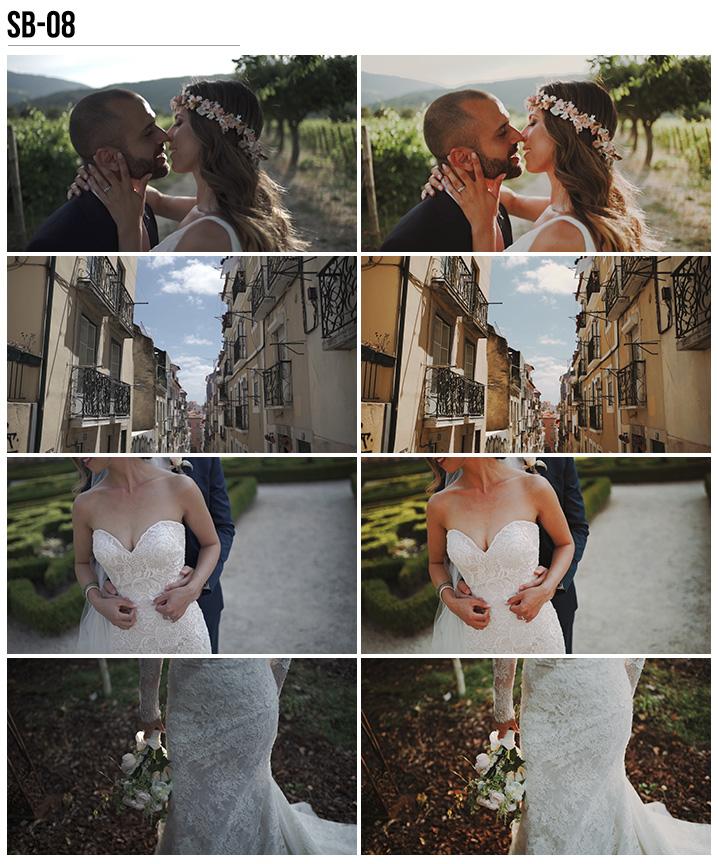 8 Vanessa & Ivo's Wedding LUTs - SB Pack - FilterGrade