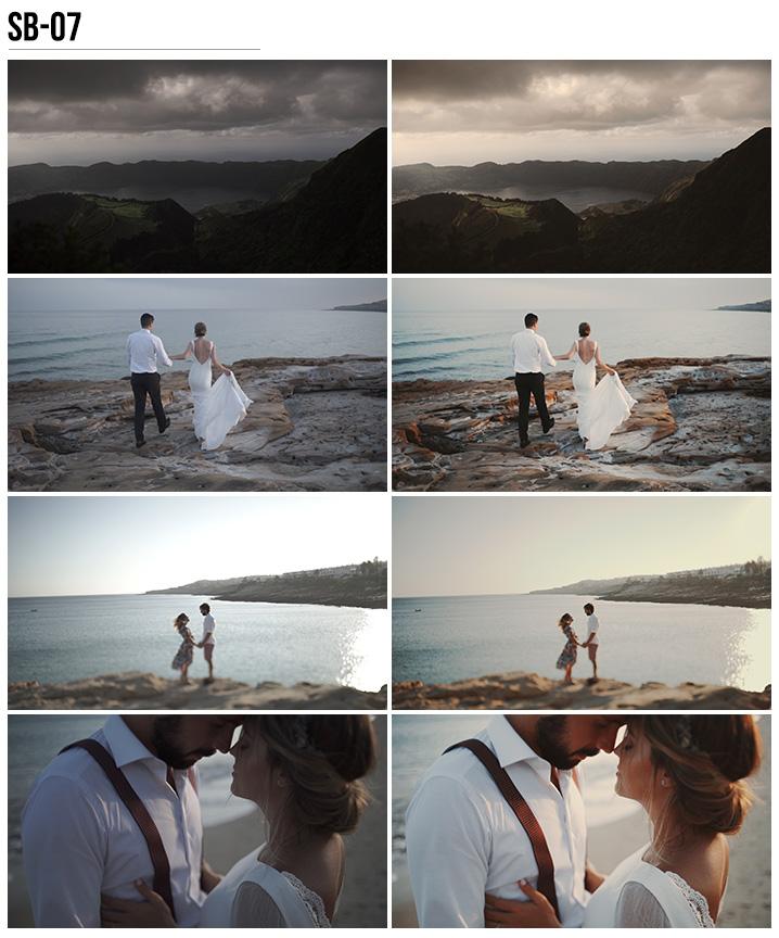 7 Vanessa & Ivo's Wedding LUTs - SB Pack - FilterGrade