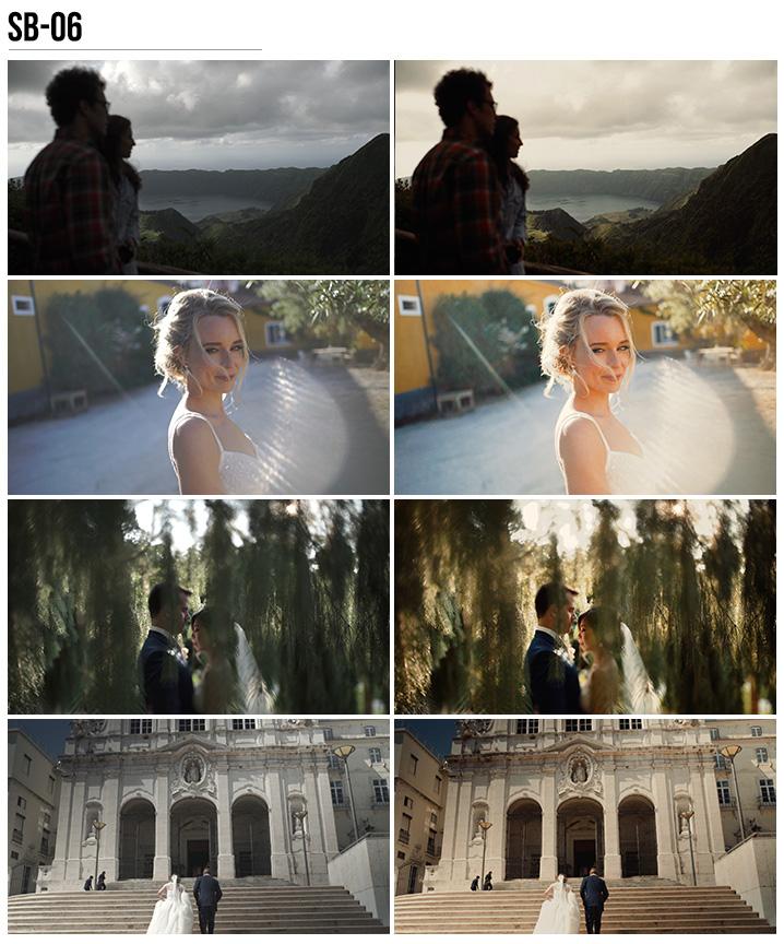 6 Vanessa & Ivo's Wedding LUTs - SB Pack - FilterGrade