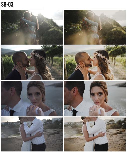 3 Vanessa & Ivo's Wedding LUTs - SB Pack - FilterGrade