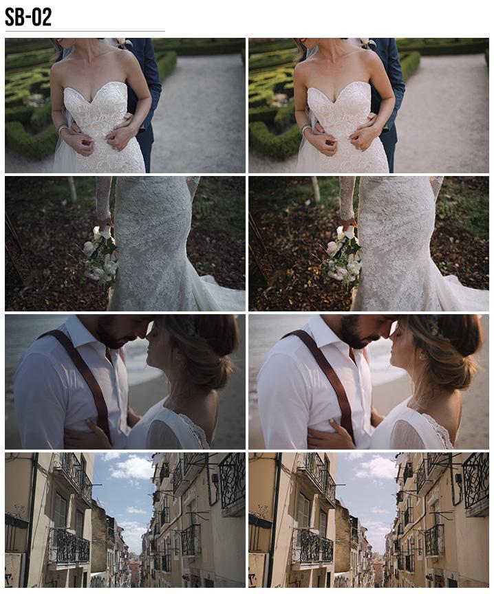2 Vanessa & Ivo's Wedding LUTs - SB Pack - FilterGrade