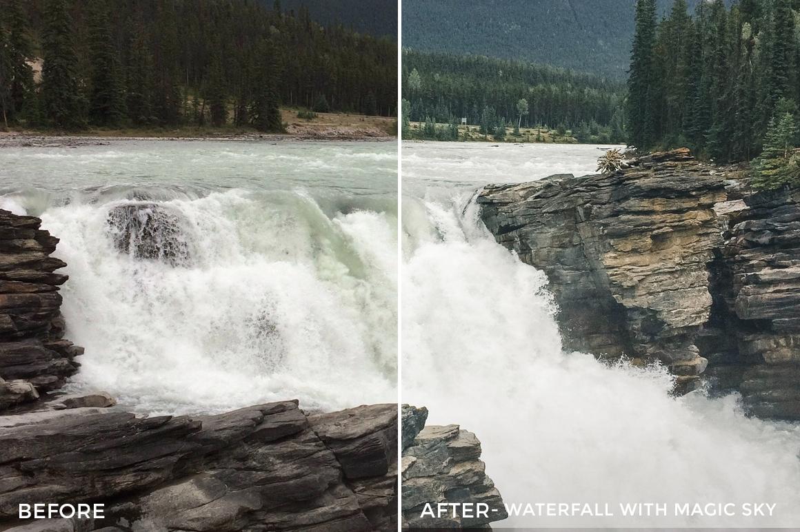 Waterfall with Magic Sky - Niklas Nxploring Lightroom Presets - FilterGrade