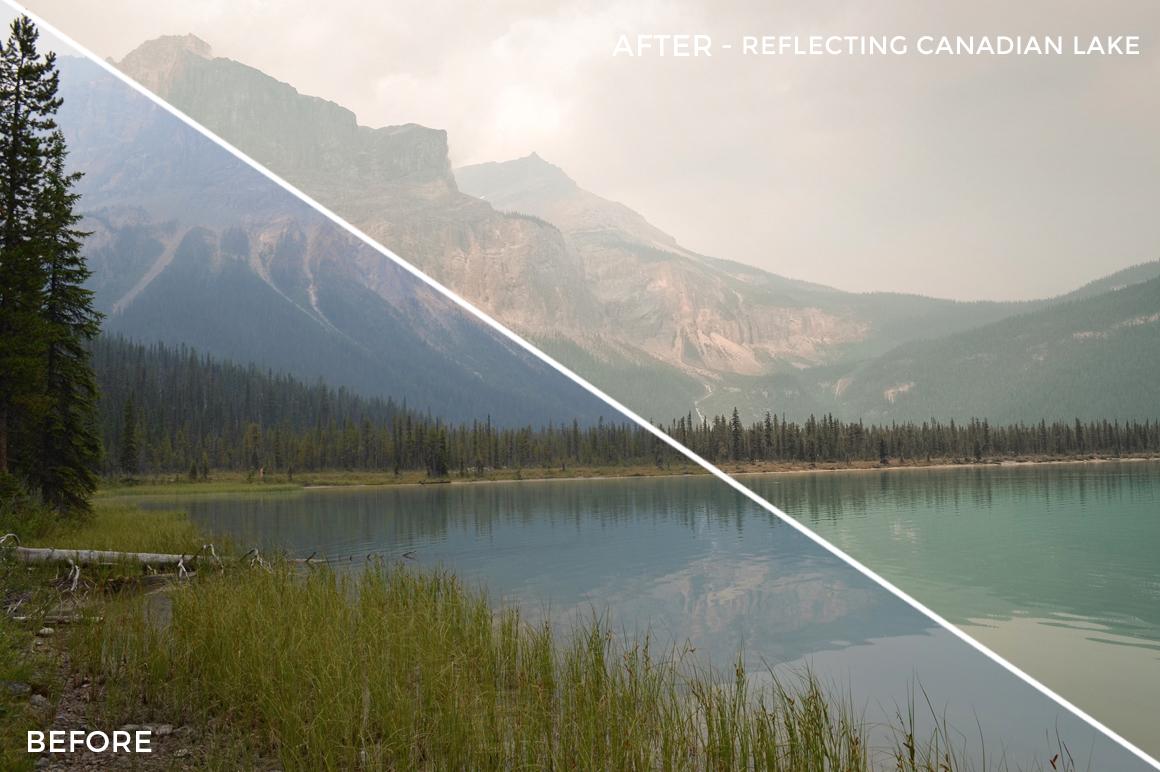 Reflecting Canadian Lake - Niklas Nxploring Lightroom Presets - FilterGrade