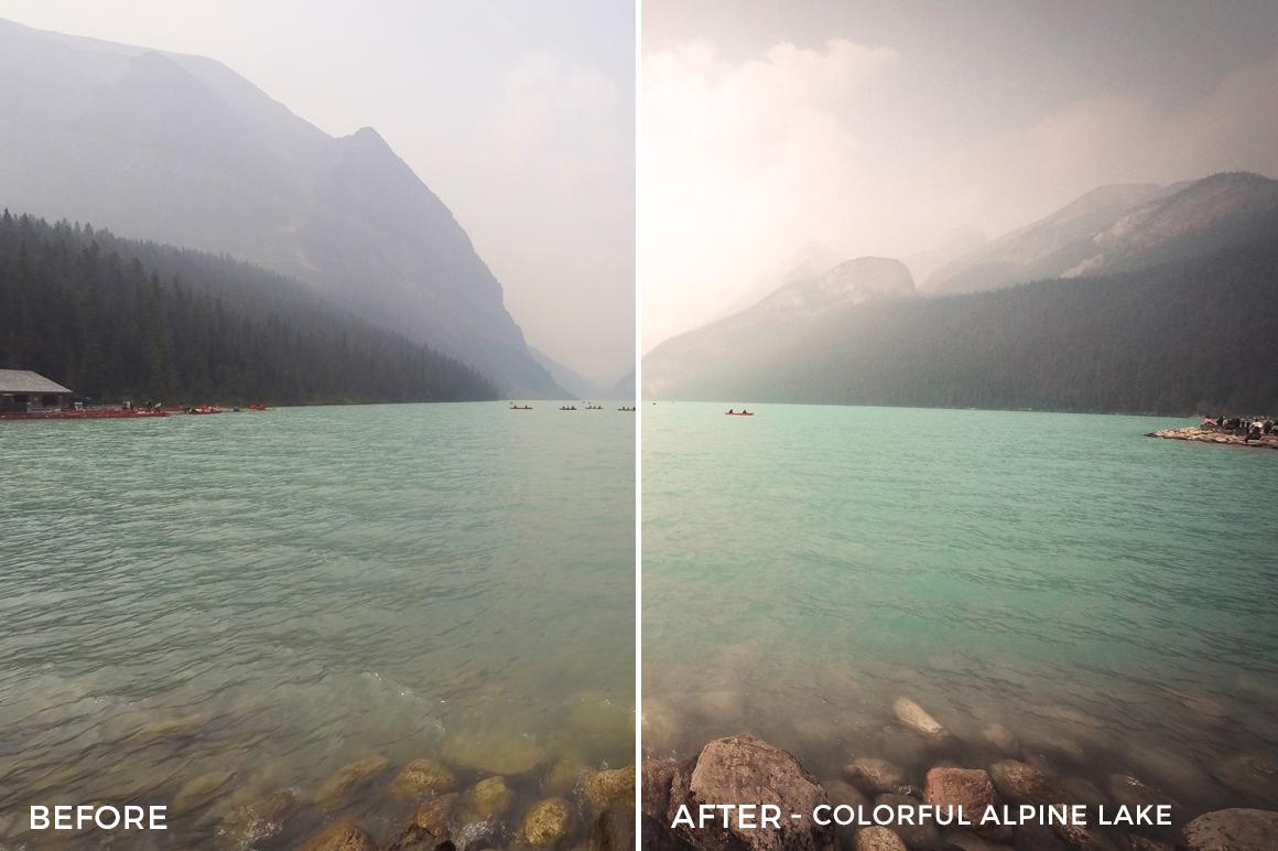 Colorful Alpine Lake - Niklas Nxploring Lightroom Presets - FilterGrade