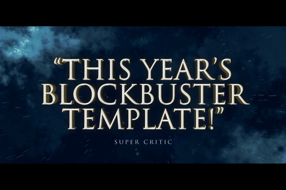 blockbuster template after effects