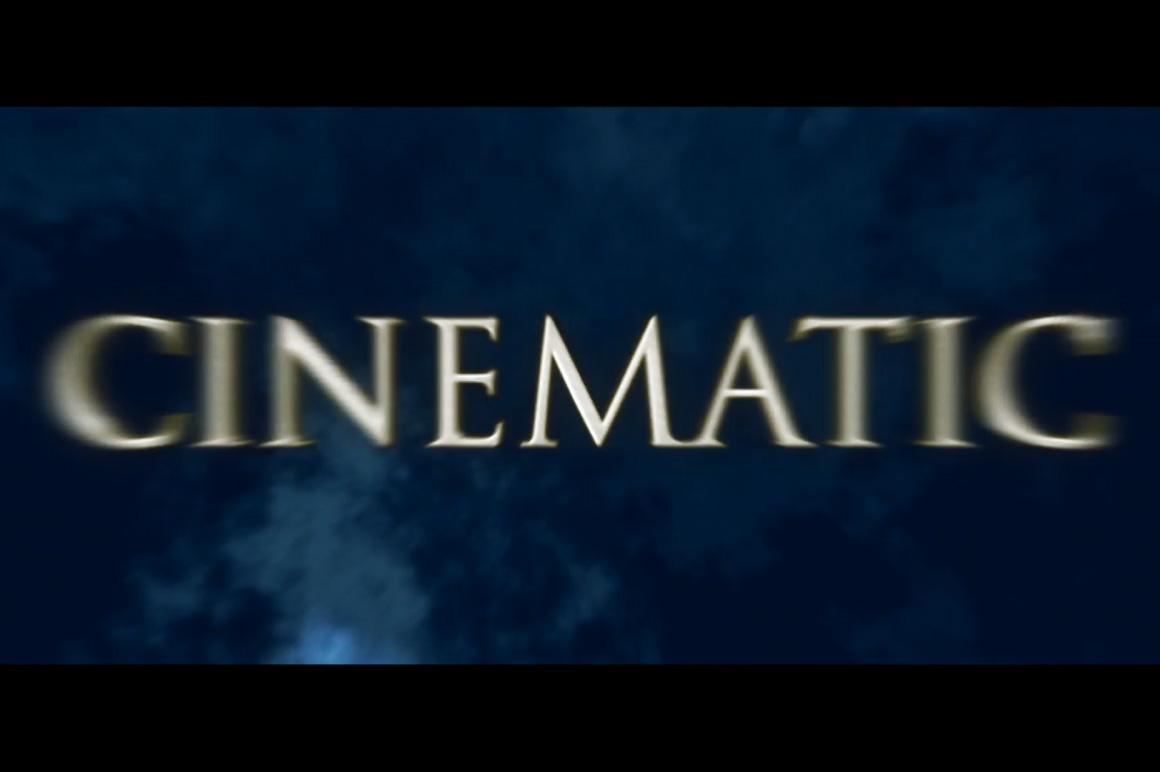 cinematic titles ae template