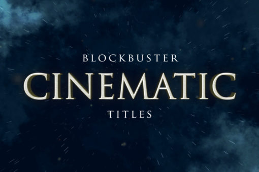 cinematic movie titles after effects project