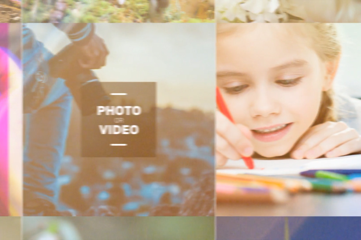 photo and video template slideshow
