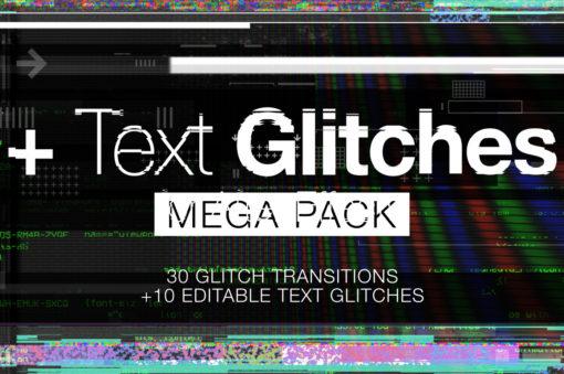 Mega 4K Glitch Transitions Pack
