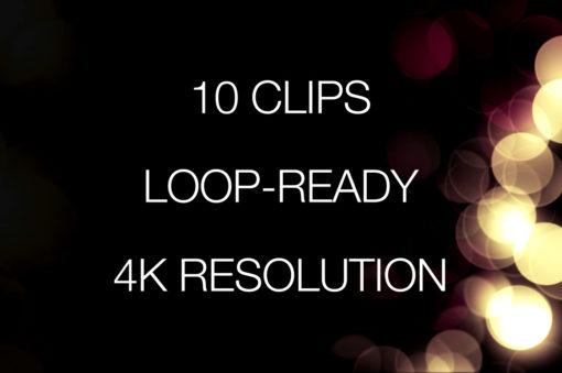 Loop ready bokeh overlays for 4K Resolution Video